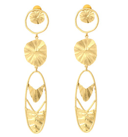 Gold Plated Drop - Earrings-JEWELLERY-PropShop24.com