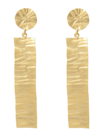 Long Handbitten Gold Tone - Earrings-JEWELLERY-PropShop24.com