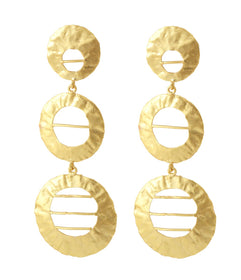 Golden Tone Foil - Earrings-JEWELLERY-PropShop24.com