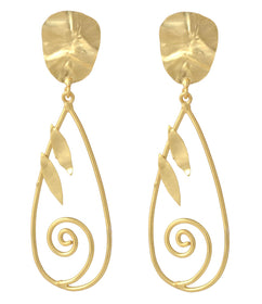 Long Gold Tone - Earrings-JEWELLERY-PropShop24.com