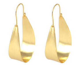 Golden Hoop - Earrings-JEWELLERY-PropShop24.com