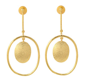 Round Drop Chain - Earrings-JEWELLERY-PropShop24.com