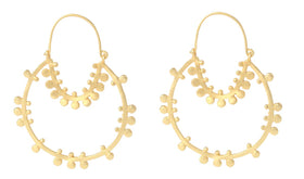 Statement Gold Loop - Earrings-JEWELLERY-PropShop24.com