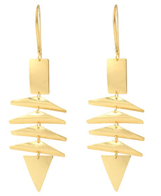Gold Plated Hanging - Earrings-JEWELLERY-PropShop24.com