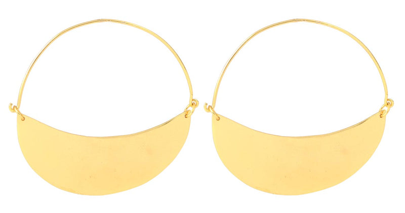 Statement Flat Gold - Earrings-EARRINGS-PropShop24.com