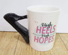 Beauty Makeup Theme Mug - Black Heels-DINING + KITCHEN-PropShop24.com