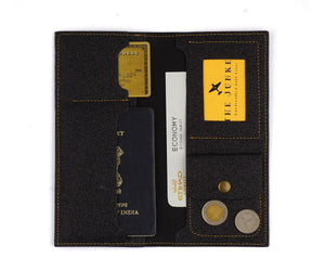Personalized - Travel Wallet And Folder - Black - C.O.D Not Available-MEN-PropShop24.com