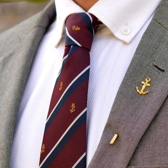 Faceted Anchor Lapel Pin-MEN-PropShop24.com
