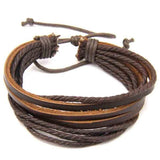 Brown Multilayered Bracelet-JEWELLERY-PropShop24.com