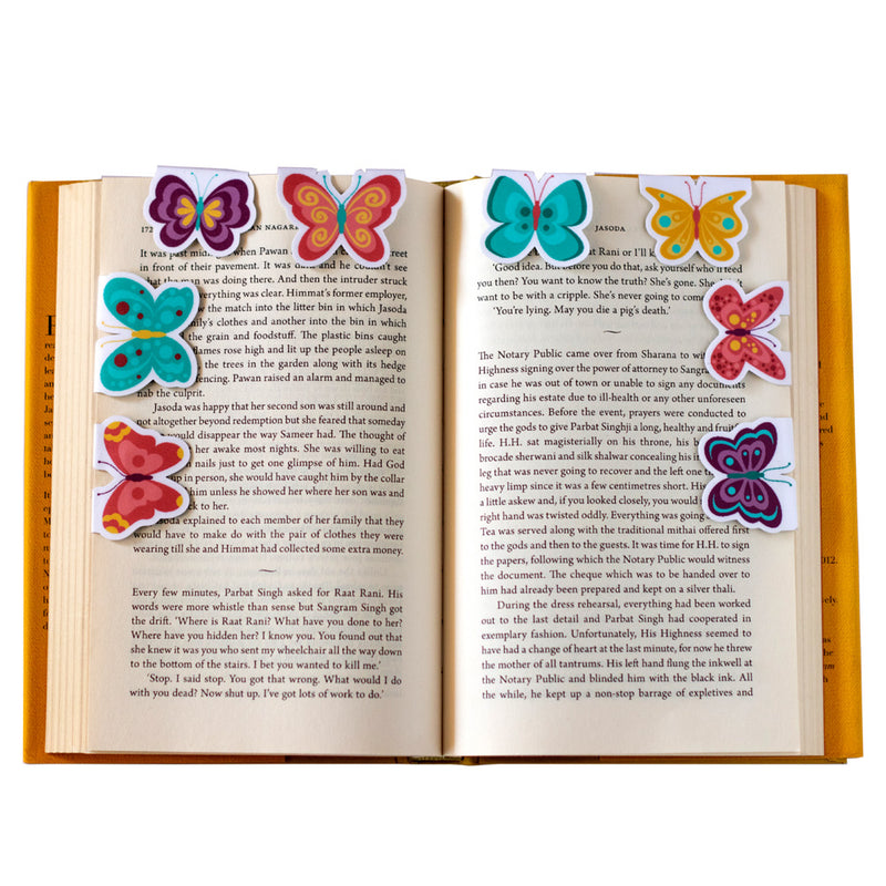 Magnetic Bookmarks - Watercolour Butterflies | Pack Of 8-DESK ACCESSORIES-PropShop24.com