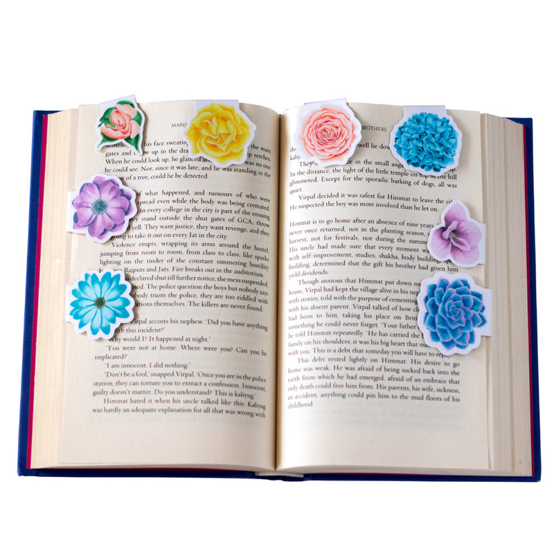 Magnetic Bookmarks - Bouquet Of Flowers | Pack Of 8-DESK ACCESSORIES-PropShop24.com