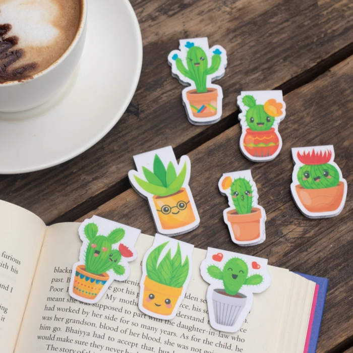 Magnetic Bookmarks - Cactus & Succulents | Pack Of 8-DESK ACCESSORIES-PropShop24.com
