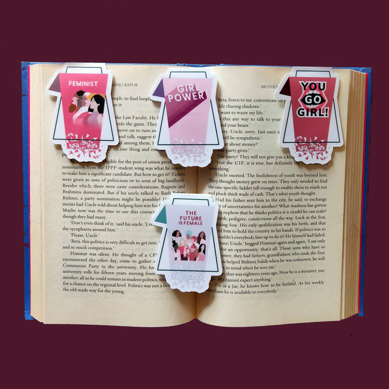 Magnetic Bookmarks - Girl Power - Set Of 4-DESK ACCESSORIES-PropShop24.com