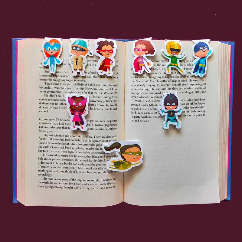Magnetic Bookmarks - Superheroes | Pack Of 9-DESK ACCESSORIES-PropShop24.com