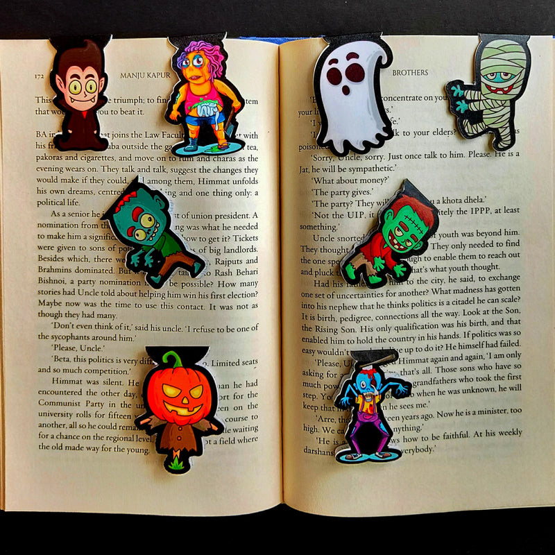 Magnetic Bookmarks - Night Time | Pack Of 8-DESK ACCESSORIES-PropShop24.com