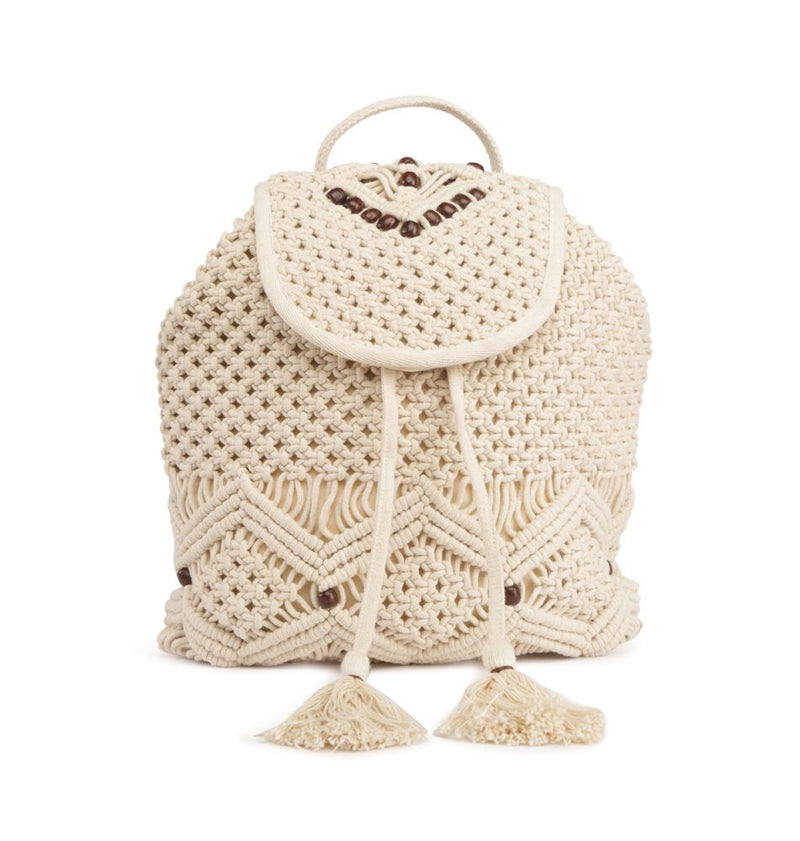 Handbag - Macrame Backpack With Beads-WOMEN-PropShop24.com