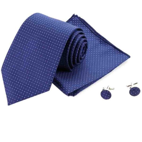 Blue Spotted Tie Set-FASHION-PropShop24.com