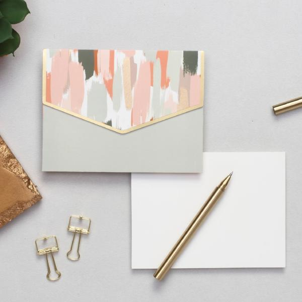 Notecard Set - Brush Strokes-STATIONERY-PropShop24.com