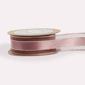 Dirty Rose Pink -Satin Centre and Silver Trim-STATIONERY-PropShop24.com