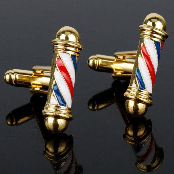 Barber Pole Cufflinks-MENS-PropShop24.com