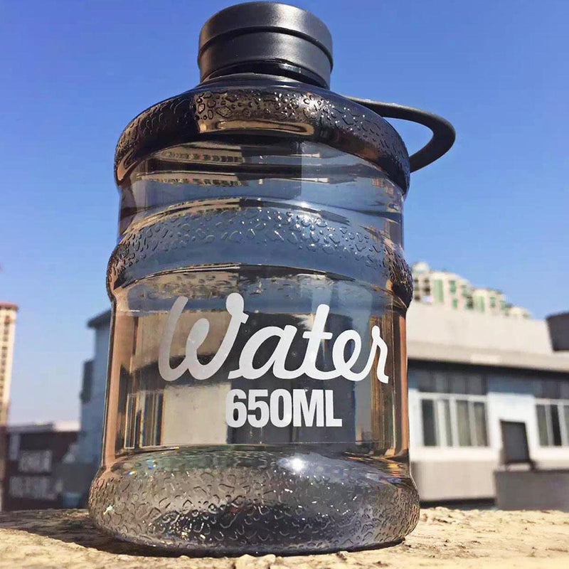 Barrel Water Bottle - Black-DINING + KITCHEN-PropShop24.com