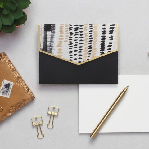 Geometric Notecard Set - black and white-STATIONERY-PropShop24.com