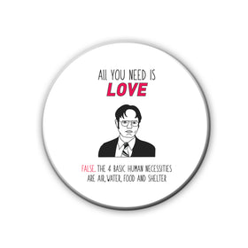 Badge/Magnet - Love Dwight-HOME-PropShop24.com