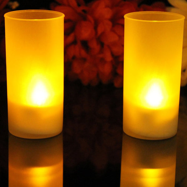 Blow On Off LED Candle - Set of 2(AMBER)-Home-PropShop24.com