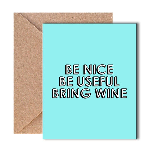 Greeting Card - Bring wine