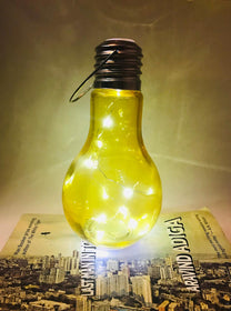 Bulb LED Hanging Lantern Lights - Yellow-HOME-PropShop24.com