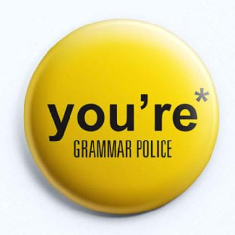 Grammar Police Badge-Home-PropShop24.com