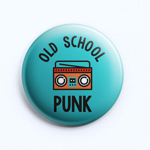 Old School Punk Badge