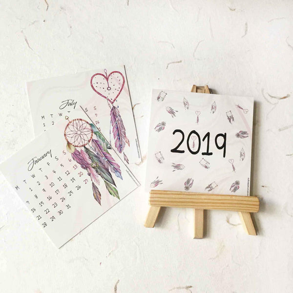 Calendar 2019 - Dreamcatcher-STATIONERY-PropShop24.com
