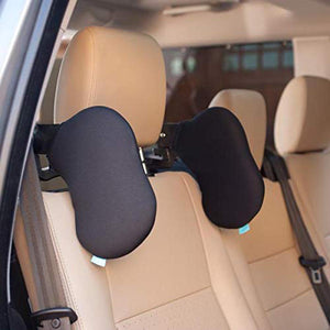 Adjustable Car Seat Neck Rest - Black-CAR ACCESSORIES-PropShop24.com