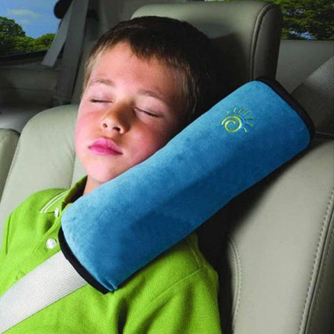 CAR HEADREST PILLOW - BLUE