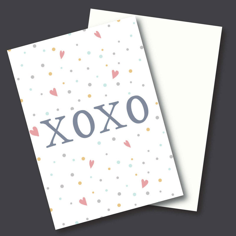 Greeting Card - Xoxo - White-GREETING CARDS-PropShop24.com