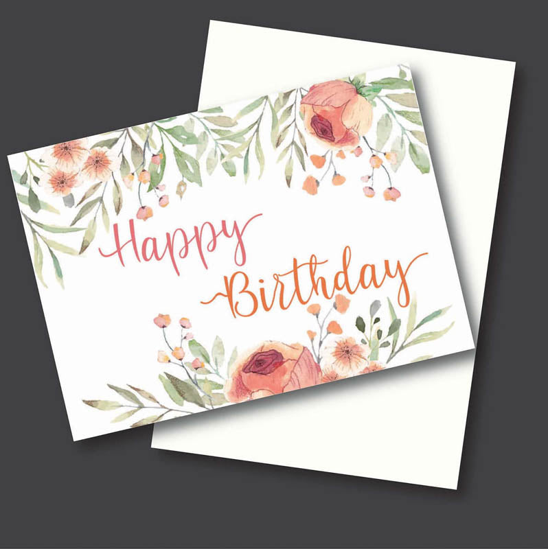Greeting Card - Happy Birthday - Floral-GREETING CARDS-PropShop24.com