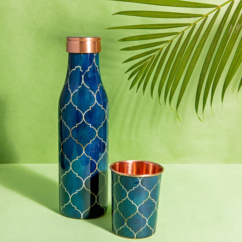 Copper Bottle - Navy Blue-DINING + KITCHEN-PropShop24.com
