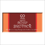 Chocolate Bar - Happy Birthday Brother-FOOD-PropShop24.com