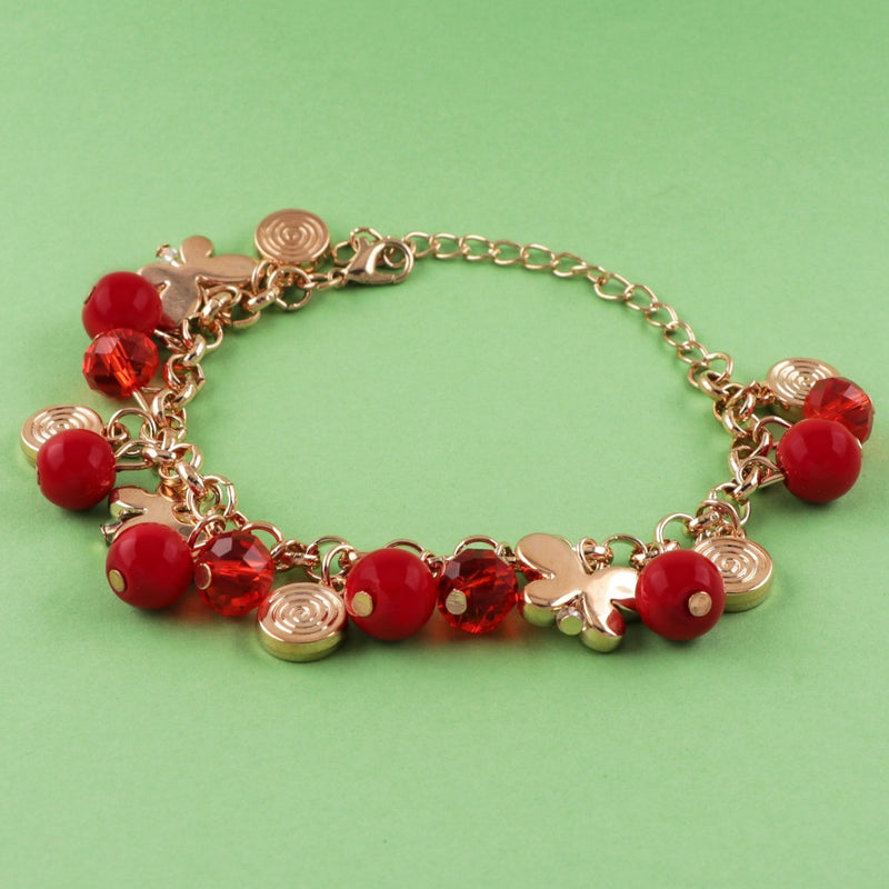 Adjustable Oxidized Golden Bracelet With Charms-BANGLES + CUFFS + BRACELETS-PropShop24.com
