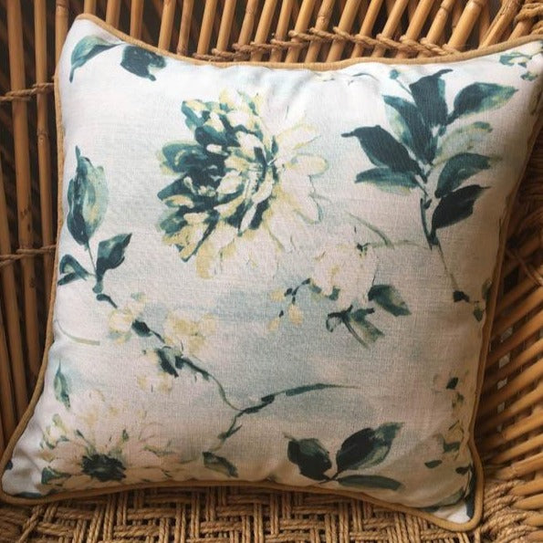 Cushion Cover - Turquoise Floral-HOME ACCESSORIES-PropShop24.com