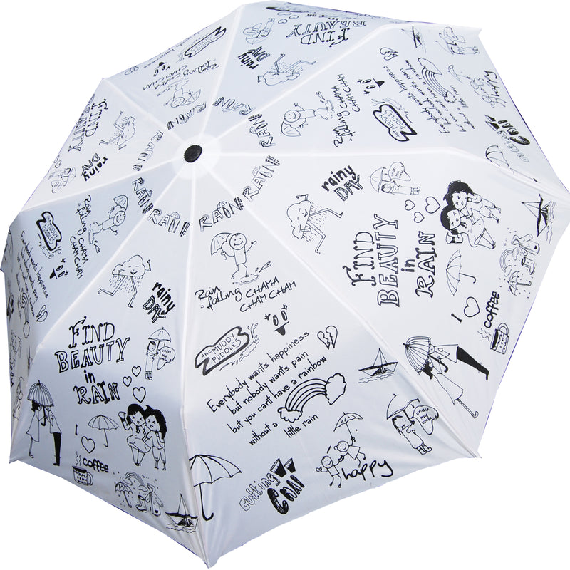 Umbrella - Rain Doodle - 3 Fold Automatic-TRAVEL ESSENTIALS-PropShop24.com