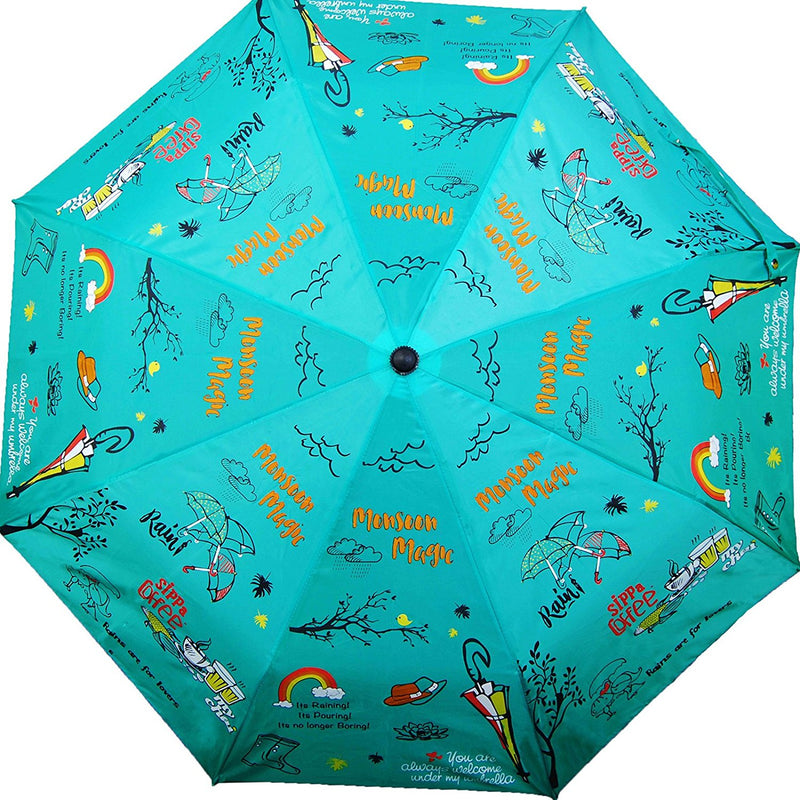 Umbrella - Monsoon Magic - 3 Fold Automatic-TRAVEL ESSENTIALS-PropShop24.com
