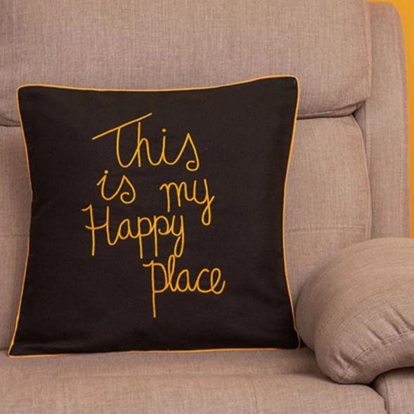 Cushion Cover - This Is My Happy Place-HOME ACCESSORIES-PropShop24.com