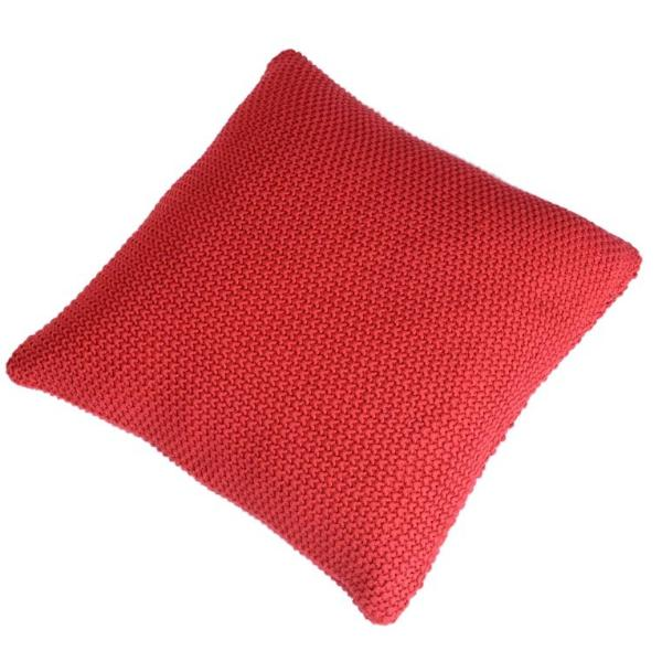 Knit And Purl Cushion Cover - Red-HOME ACCESSORIES-PropShop24.com