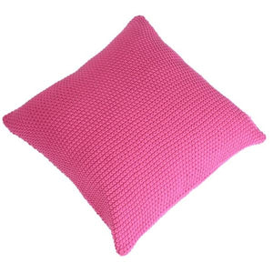 Knit And Purl Cushion Cover - Pink-HOME ACCESSORIES-PropShop24.com