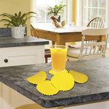 Coasters - Wafers - Yellow - Set Of 2-Home-PropShop24.com
