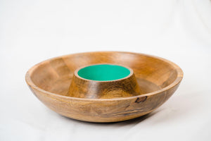 Chip And Dip Round Green-DINING + KITCHEN-PropShop24.com