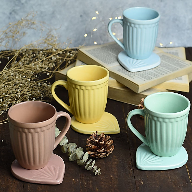 Coffee Mug - Grooved Vintage Look-DINING + KITCHEN-PropShop24.com