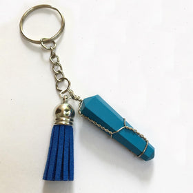 Crystal Tassel Keychain - Turquoise-FASHION-PropShop24.com